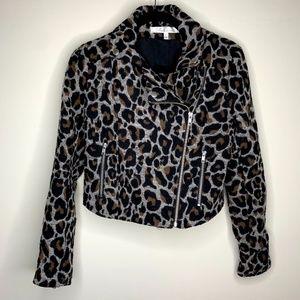 Revolve Lovers + Friends Leopard Print Jacket XS